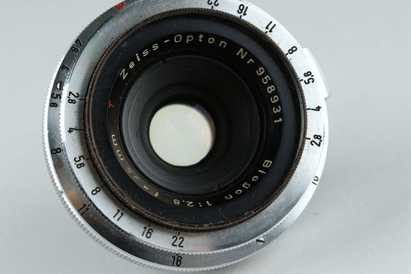 Contax Zeiss-Opton T Biogon 35mm F/2.8 Lens for Contax III #20561 A1