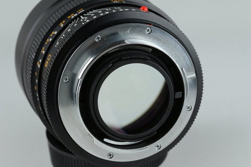 Leica Leitz Summilux-R 80mm F/1.4 3-Cam Lens With Box #20568