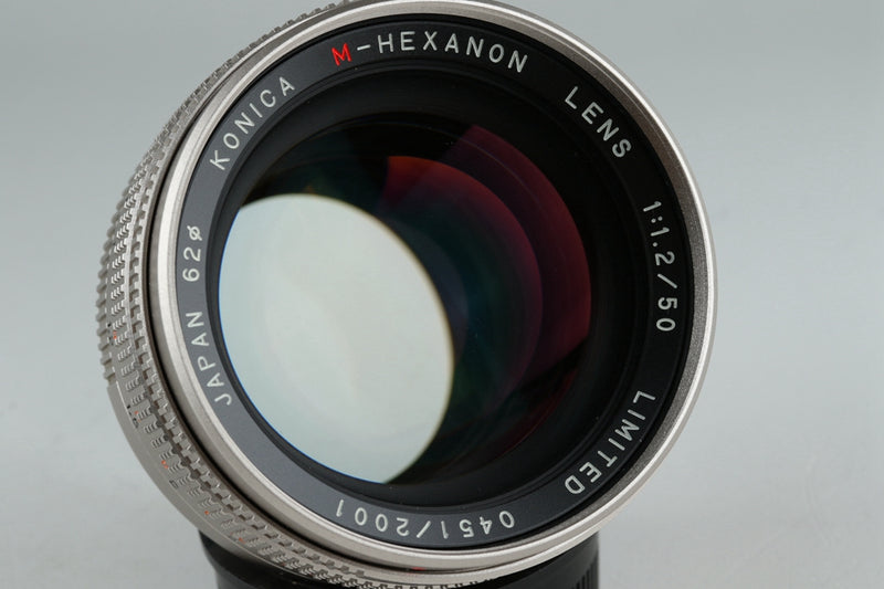 konica Hexar RF Limited + M-Hexanon 50mm F/1.2 Lens Set With Box #20932