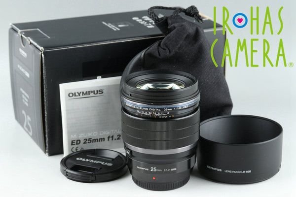 Olympus M.Zuiko Digital 25mm F/1.2 Pro Lens for M4/3 With Box #21518