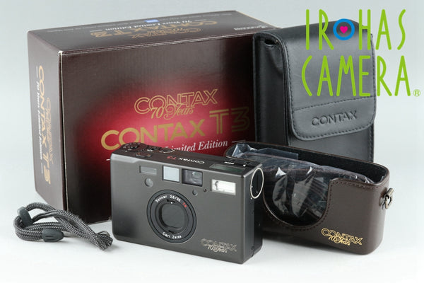 Contax T3 70 Years Limited Edition With Box #21822F1