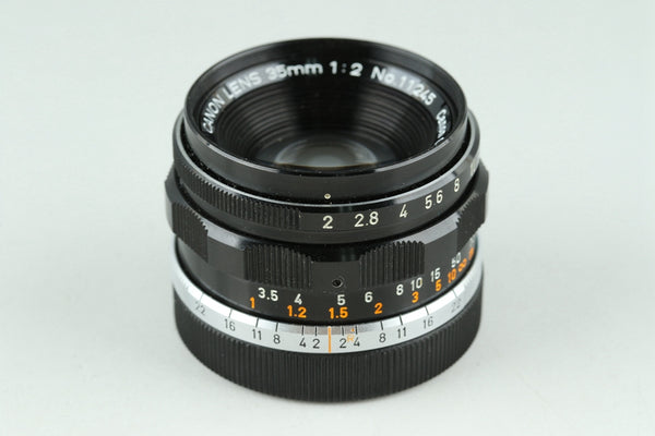 Canon 35mm F/2 Lens With 35mm Finder #22060G1