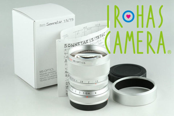 Miyazaki Sonnetar 73mm F/1.5 F MC MS-Optics Lens Silver for Leica M #22612F2