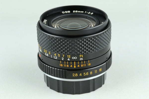Yashica DSB 28mm F/2.8 Lens for CY Mount #22769A2