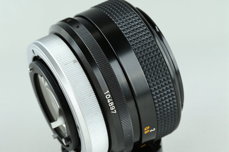Canon FD 55mm F/1.2 S.S.C. Lens #23028F4