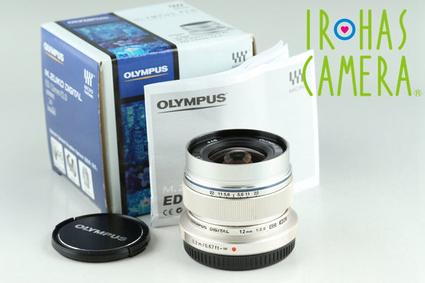Olympus M.Zuiko Digital 12mm F/2 ED MSC Lens for M4/3 With Box #23560F2