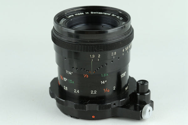 Alpa Kern-Macro-Switar 50mm F/1.9 AR Lens for Alpa #23604F4