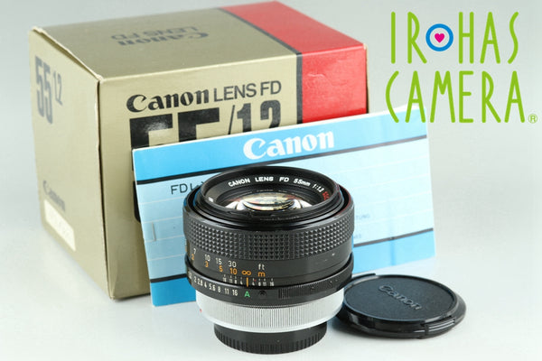 Canon FD 55mm F/1.2 S.S.C. Lens With Box #23649