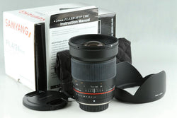 Samyang 24mm F/1.4 ED AS IF UMC Lens for 4/3 With Box #23769