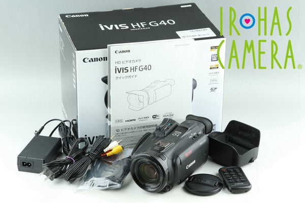 Canon iVIS HF G40 Video Camera With Box #24232