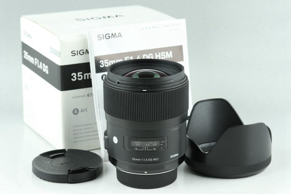 Sigma A 35mm F/1.4 DG HSM Lens for Nikon With Box #24270
