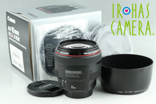 Canon EF 85mm F/1.2 L II USM Lens With Box #24312