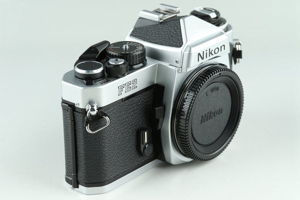 Nikon FE2 35mm SLR Film Camera In Silver #24313D3