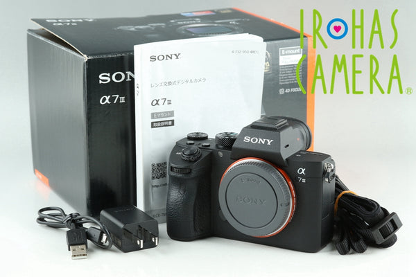 Sony Alpha a7 III Digital Camera With Box *JapaneseLanguage Only* #24317