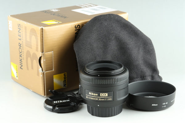 Nikon AF-S Nikkor 35mm F/1.8 G DX Lens With Box #24726