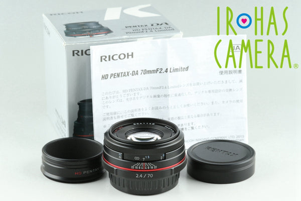 Ricoh HD Pentax-DA 70mm F/2.4 Limited Lens for Pentax K With Box #25213