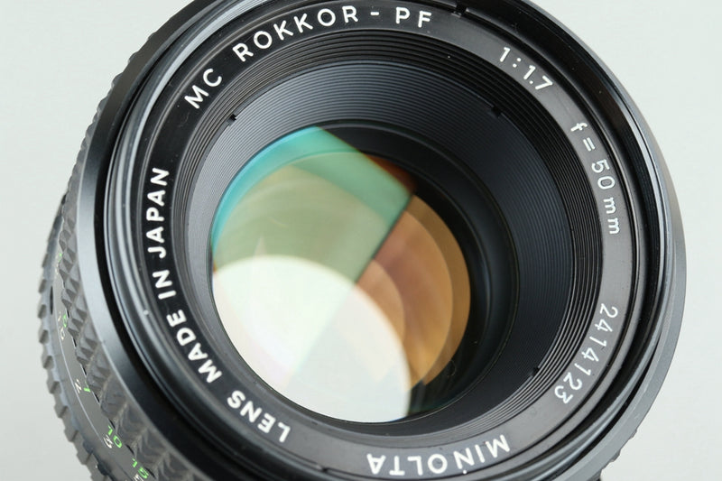 Minolta MC Rokkor-PF 50mm F/1.7 Lens for MD Mount #25242H1