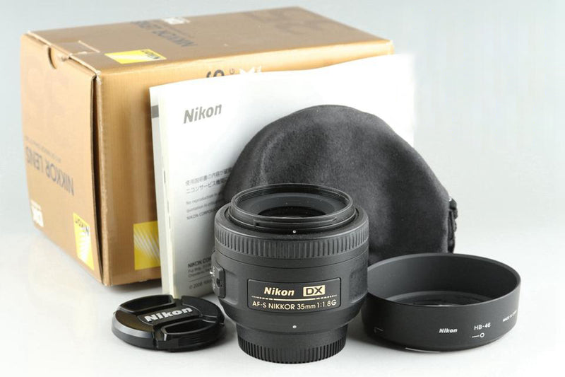 Nikon AF-S DX Nikkor 35mm F/1.8 G Lens With Box #25588