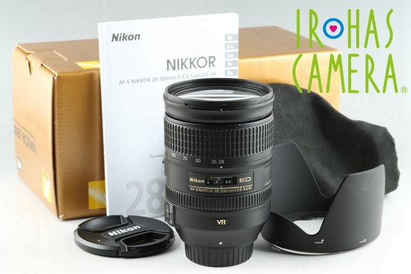Nikon AF-S Nikkor 28-300mm F/3.5-5.6 G ED VR Lens With Box #25615