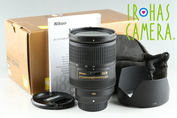 Nikon DX AF-S Nikkor 18-300mm F/3.5-5.6 G ED VR Lens With Box #25616