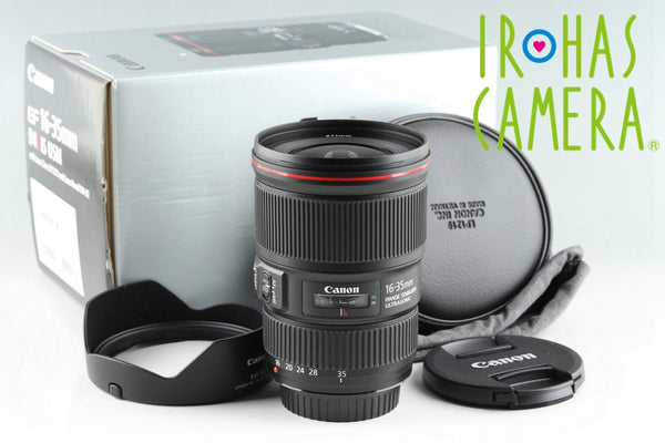 Canon EF 16-35mm F/4 L IS USM Lens With Box #25675