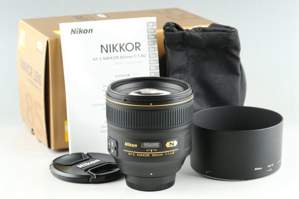 Nikon AF-S Nikkor 85mm F/1.4 G N Lens With Box #25701