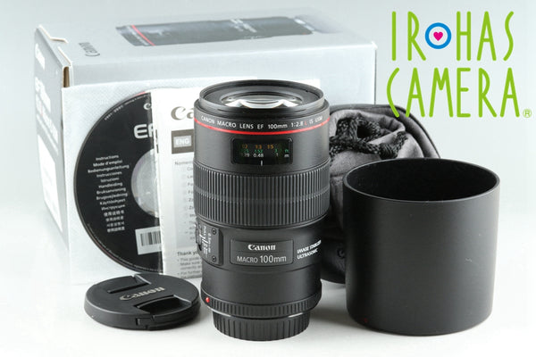 Canon EF 100mm F/2.8 L Macro IS USM Lens With Box #25715