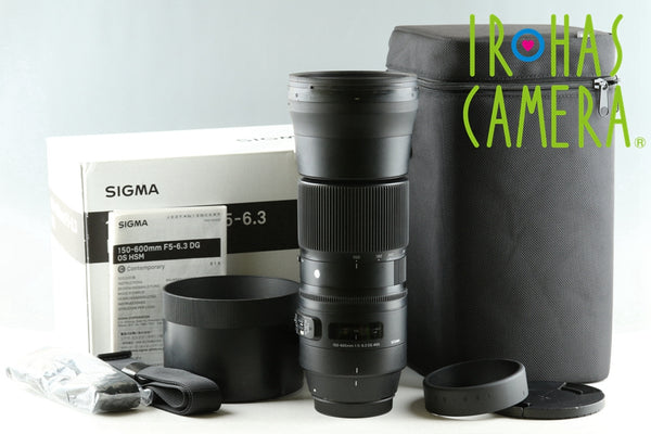 Sigma C 150-600mm F/5-6.3 DG Lens for Canon With Box #25806