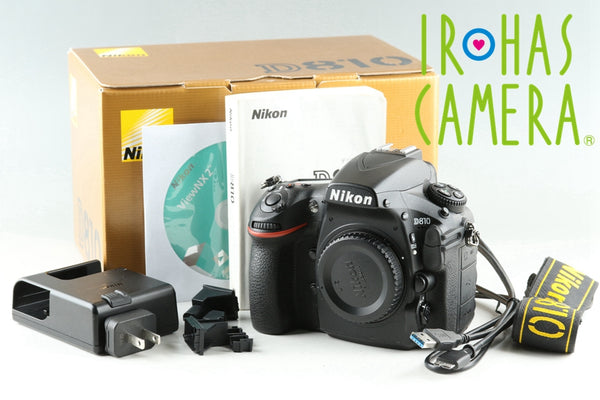 Nikon D810 Digital SLR Camera With Box *Shutter Count 14141* #25891