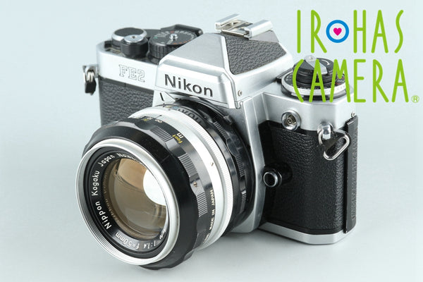 Nikon FE2 35mm SLR Film Camera + Nikkor-S Auto 50mm F/1.4 Lens #26084D2
