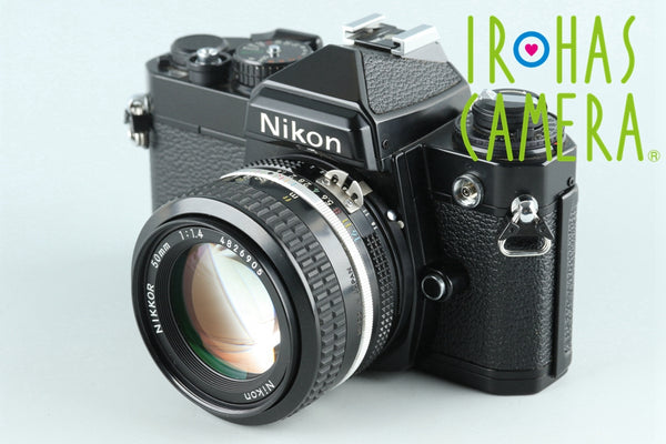 Nikon FE 35mm SLR Film Camera + 50mm F/1.4 Ai Lens #26288D3