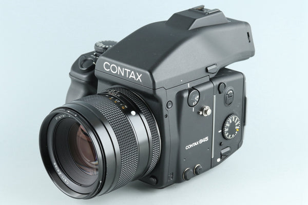 Contax 645 Medium Format Film Camera + 80mm F/2 Lens + MF-1 + MFB-1 #26354E2
