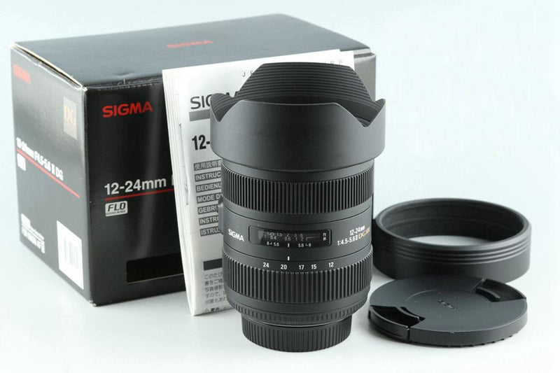 Sigma 12-24mm F/4.5-5.6 II DG HSM Lens for Nikon With Box #26597
