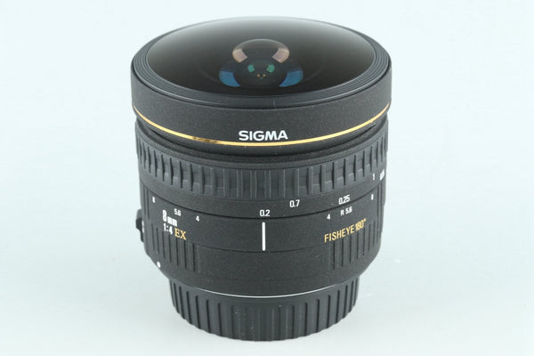 Sigma 8mm F/4 EX Fisheye 180° Lens for Canon #27155G2