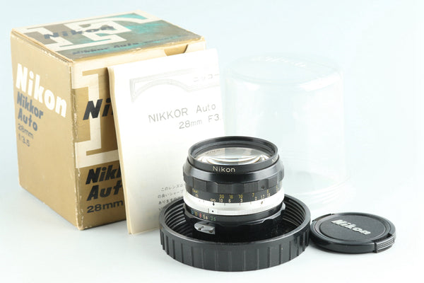 Nikon Nikkor-H Auto 28mm F/3.5 Non Ai Lens With Box #27249