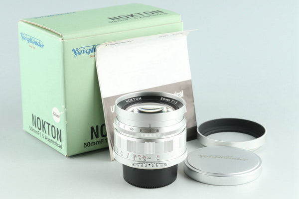 Voigtlander Nokton 50mm F/1.5 Aspherical Lens for Leica L39 With Box #27397