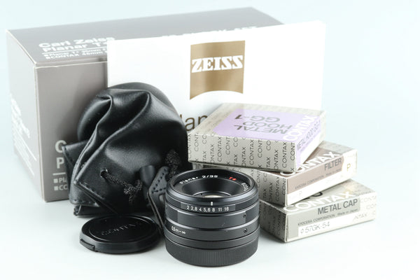 Contax Carl Zeiss Planar T* 35mm F/2 Lens Black Set With Box #27686