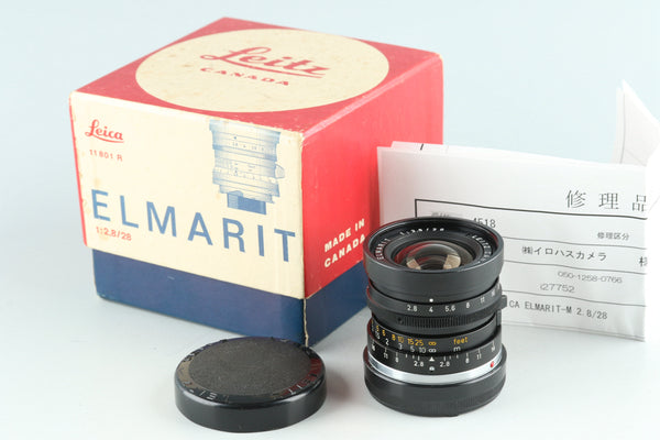 Leica Elmarit-M 28mm F/2.8 Lens for Leica M With Box #27752L1