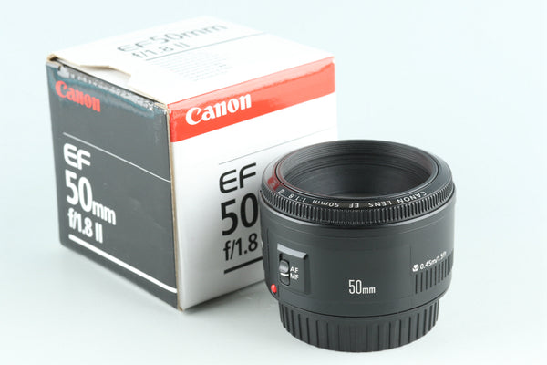 Canon EF 50mm F/1.8 II Lens With Box #27815