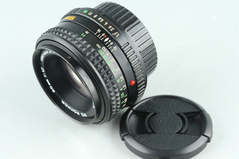 Minolta MD Rokkor 50mm F/1.7 Lens for MD Mount #28214F4
