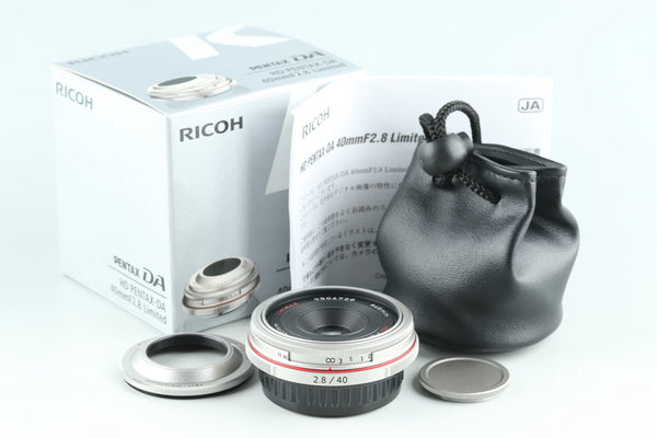 Ricoh HD Pentax-DA 40mm F/2.8 Limited Lens for Pentax K With Box #28419L8