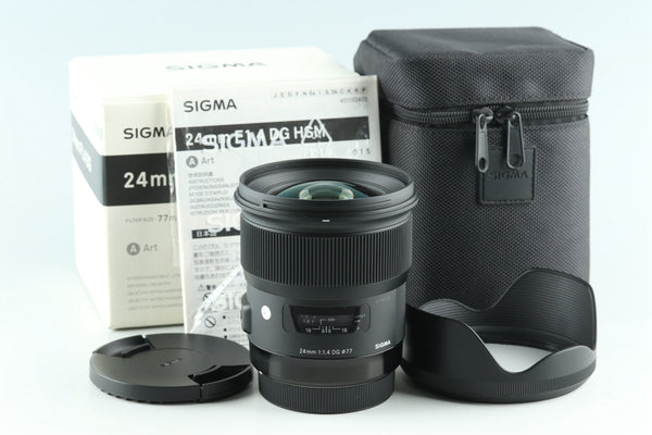 Sigma A 24mm F/1.4 DG Lens for Canon With Box #28689L9