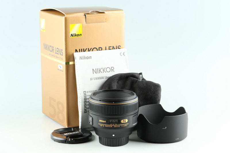 Nikon AF-S Nikkor 58mm F/1.4 G N Lens WIth Box #28697L5