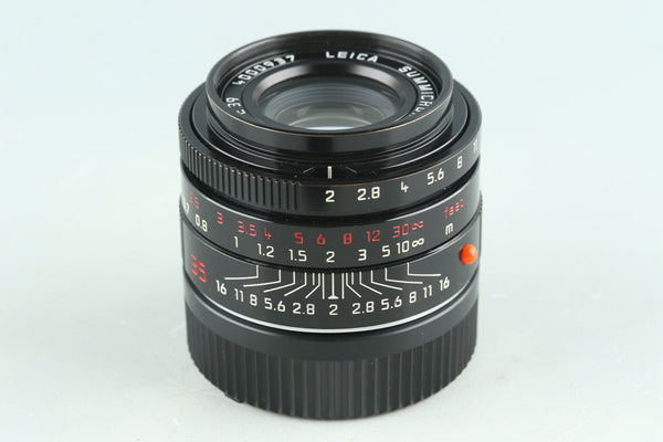 Leica Summicron-M 35mm F/2 ASPH. E39 Lens *Black Paint* #28744C2