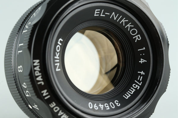 Nikon EL-Nikkor 75mm F/4 Enlarging Lens #29003G21