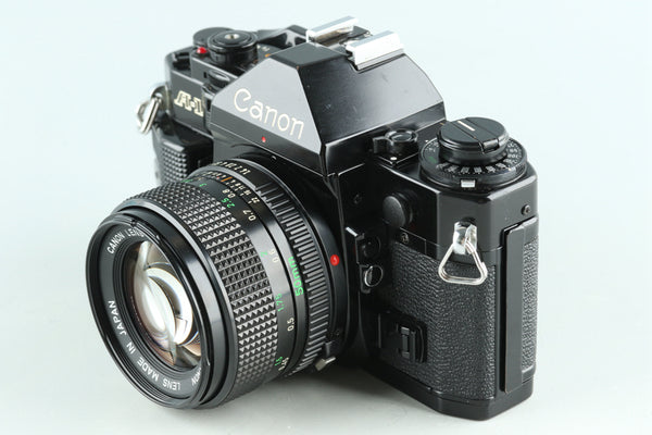 Canon A-1 35mm SLR Film Camera + FD 50mm F/1.4 Lens #29048D4