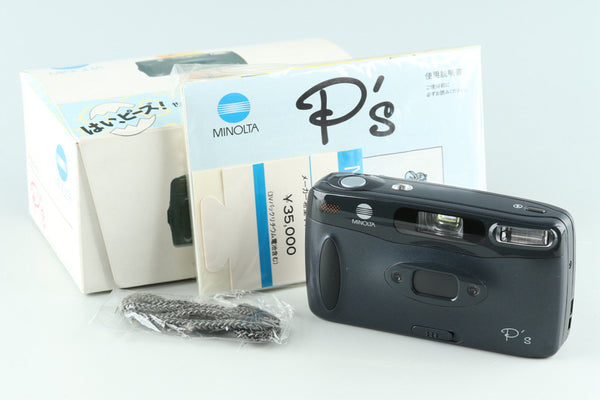 Minolta P's Panorama 35mm Point & Shoot Film Camera With Box #29169L8