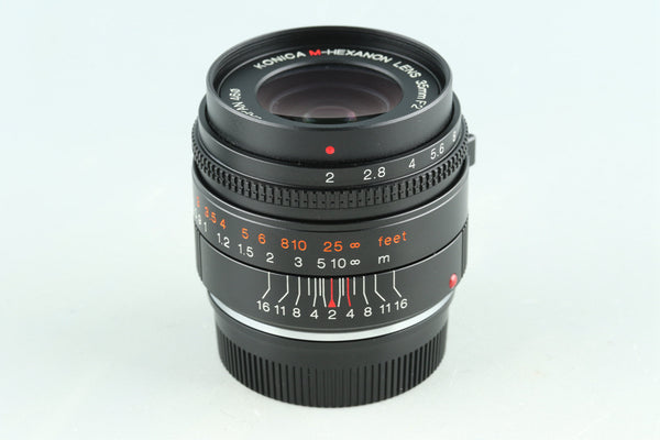 Konica M-Hexanon 35mm F/2 Lens for Leica M #29195E6