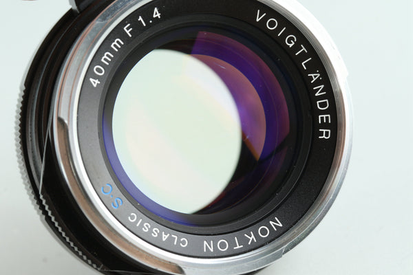Voigtlander Nokton Classic S.C 40mm F/1.4 Lens for Leica M With Box #29530L8