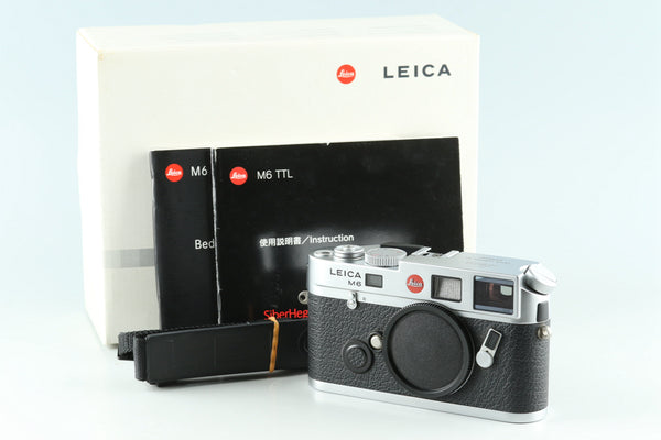 Leica M6 TTL 0.72 35mm Rangefinder Film Camera In Silver With Box #30614L1